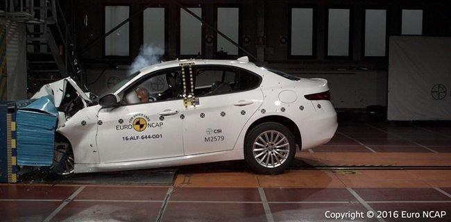 Alfaromeo Giulia - Crash test